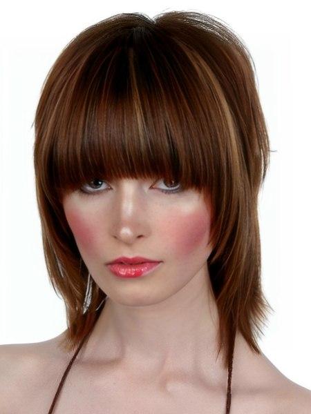 razor cut hairstyle