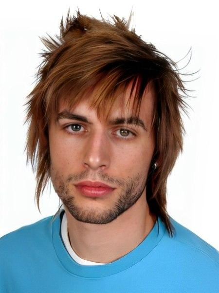 Men S Shag Haircut With Slicing