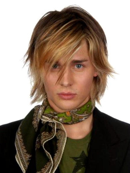 These are some more of the latest flowing mens fashion hairstyles 2008-2009