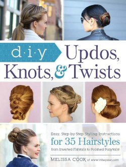 Books with photos of updos, formal hairstyles and prom hair