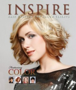 Books with hairstyles and haircuts, including Inspire Quarterly Volumes
