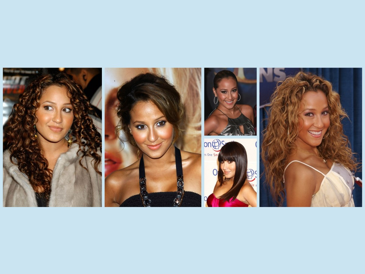 Adrienne Bailon Hairstyles Looks With Curly Hair And Strict Updos