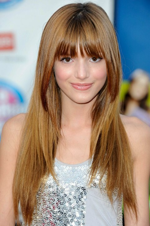 Bella Thorne Long Hair Angled Along The Sides And Cut