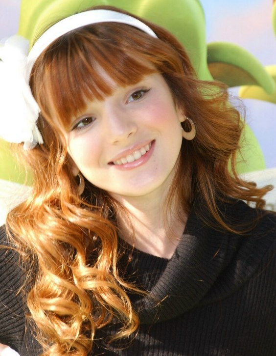 Bella Thorne Wearing Long Red Hair Wavy Coils And Band