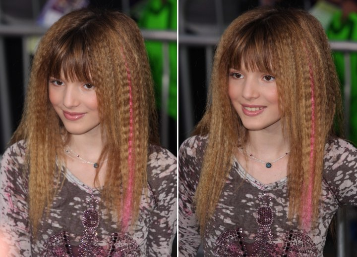 Bella thorne with long crimped hair