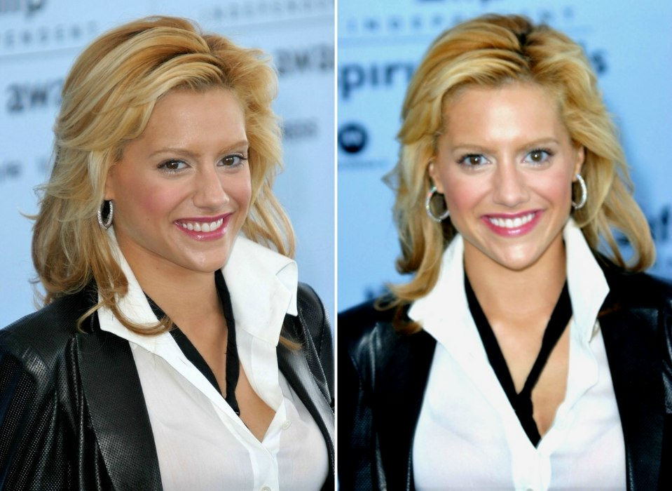 Brittany Murphy sporting a long pageboy haircut