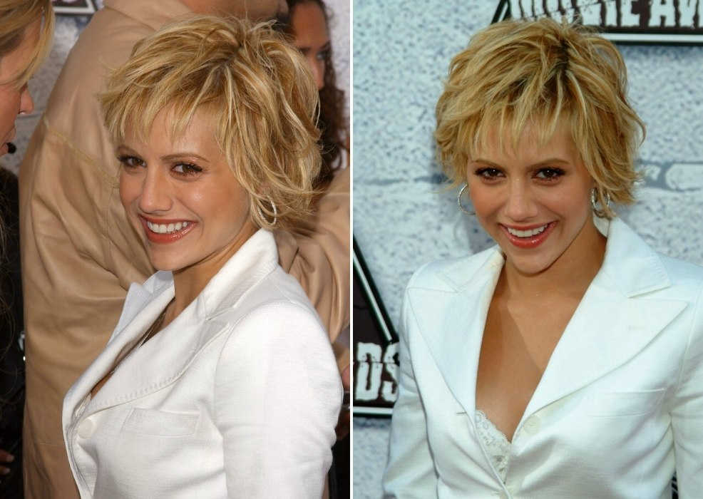 Marvelous Brittany Murphy Sporting A Short Messy Hairstyle Hairstyle Inspiration Daily Dogsangcom