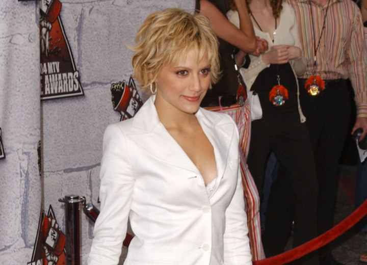 Brittany Murphy Sporting A Short Messy Hairstyle