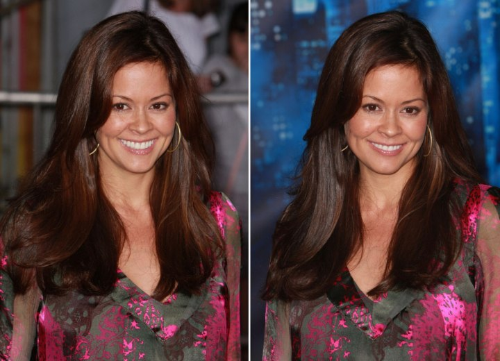 Brooke Burke   Long Hairstyle For Thick And Heavy Hair