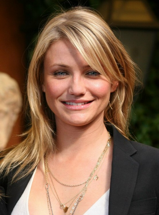 Cameron Diaz Simple Long Hairstyle Suitable For Formal