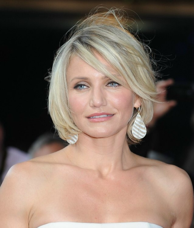 Fine Cameron Diaz Wearing Her Hair Short In A Chin Length Bob Short Hairstyles For Black Women Fulllsitofus