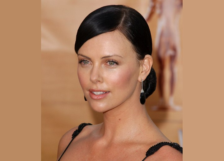 charlize theron dark hair