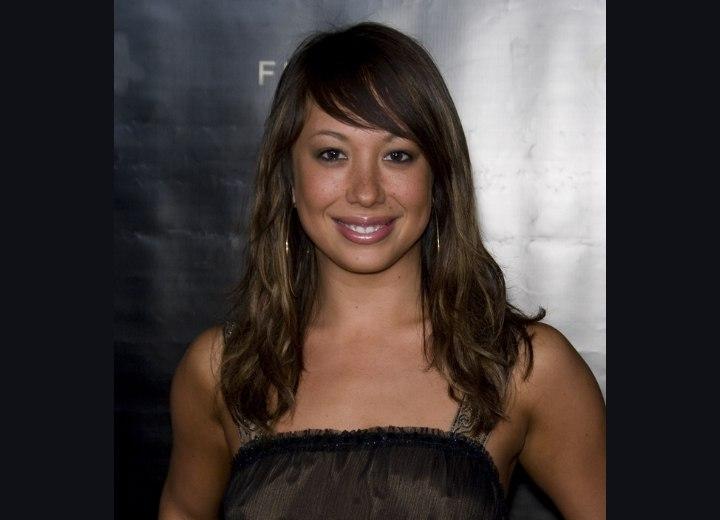 Previous, Cheryl Burke's long hair look