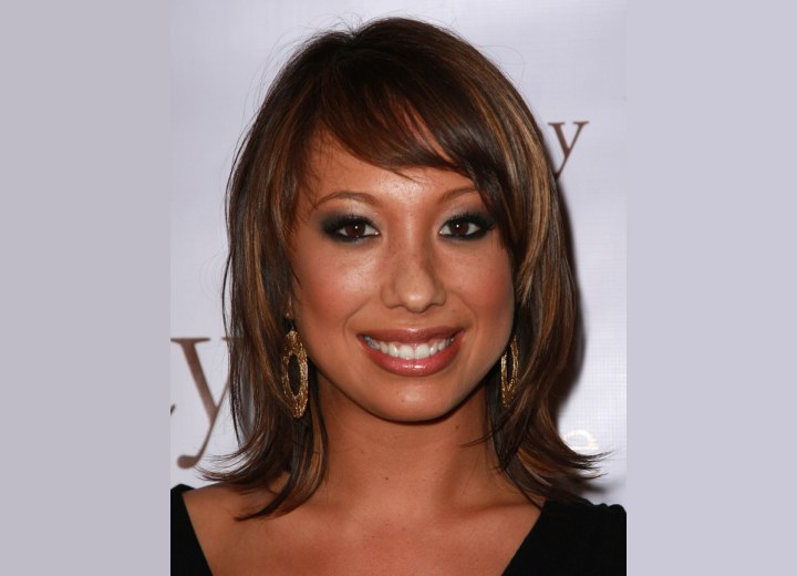 side swept bang hairstyles. More Cheryl Burke Hairstyles
