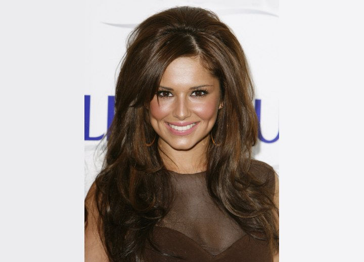 haircuts with volume at the crown cheryl cole wearing hair with volume in the crown 3008
