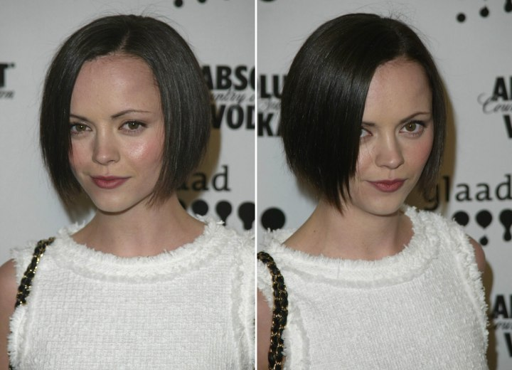 Christina Ricci Short Bob With Textured Ends For A Heart