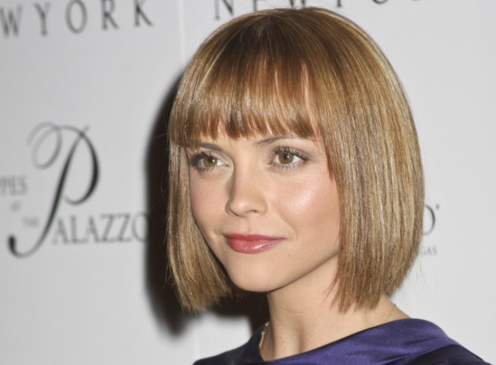 Christina Ricci Timeless Look For Hair With A Longer