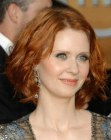 Cynthia Nixon with short red hair