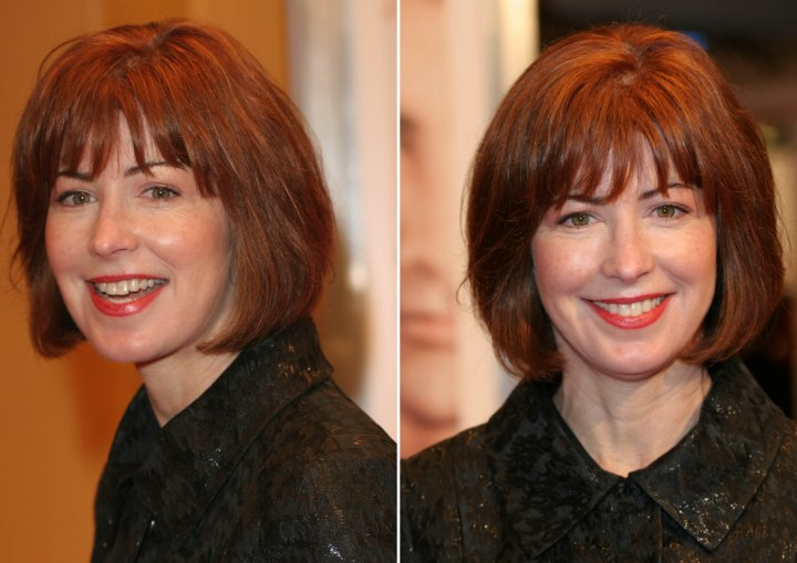Dana Delany sporting a rejuvenating bob hairstyle that strips off the