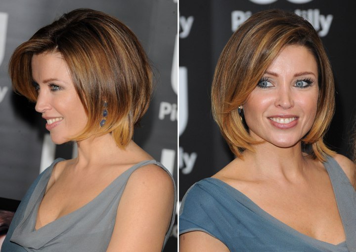 Dannii Minogue S Hair Cut In A Bob With Lifted Bangs