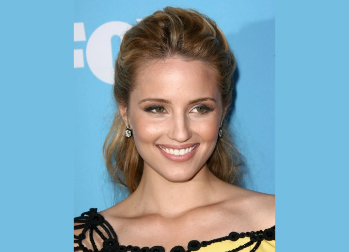 Dianna Agron's Fifties Hair Style. Dianna Agron with her hair styled for a
