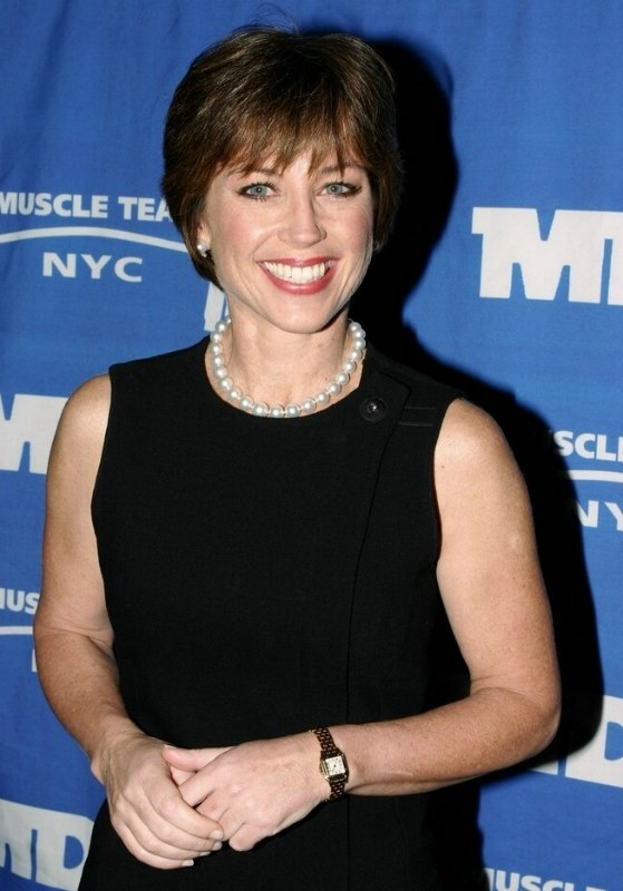 We see Dorothy Hamill wearing her short wash and go hairstyle in New ...