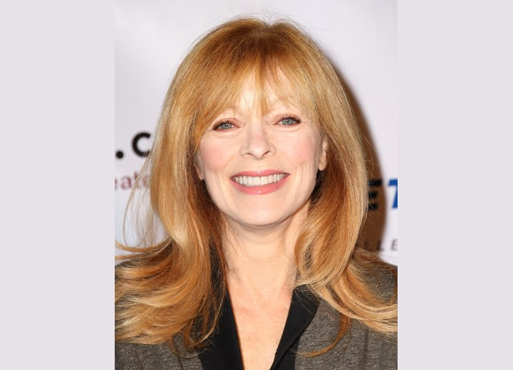 Frances Fisher Long Hairstyle For Women Aged Over 50