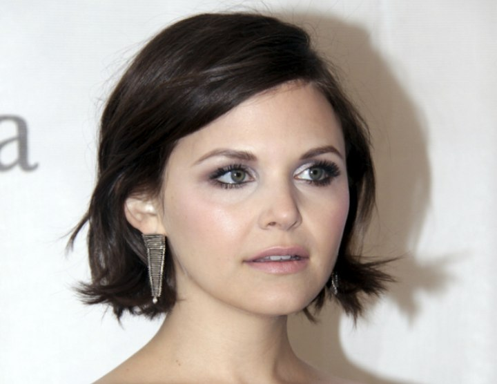 Prime Ginnifer Goodwin Short Neck Level Haircut With A Messy Flip And Short Hairstyles Gunalazisus