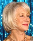 Helen Mirren with a short bob