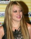 Hilary Duff with very long straight hair