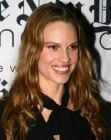 Hilary Swank with long wavy hair