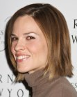 Hilary Swank with a bob