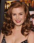 Isla Fisher with curly hair