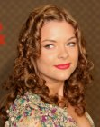 Jaime King with her hair in curls