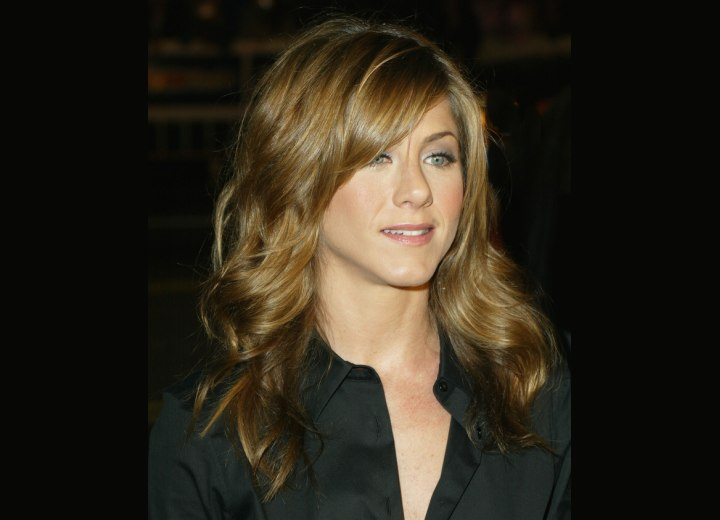 jennifer aniston hair. Jennifer Aniston with curled