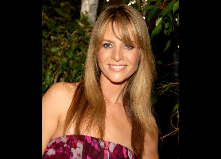 Jessalyn Gilsig California Girl Look Hairstyle With