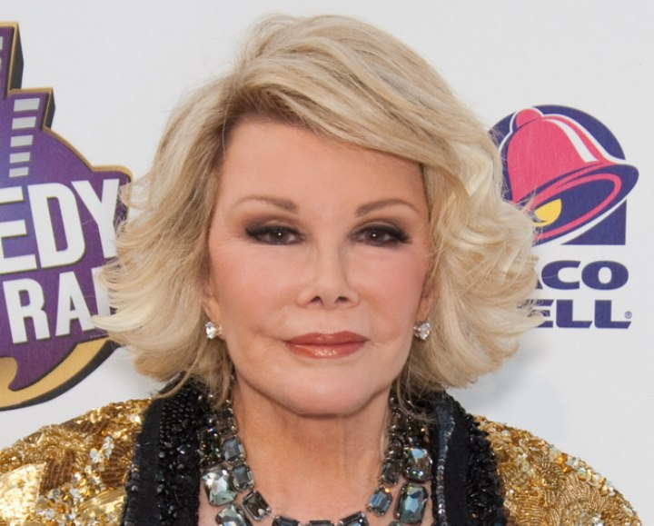 Joan Rivers With Feathered Blonde Hair
