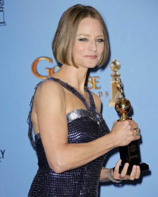 Awe Inspiring Jodie Foster39S Chin Length Bob With Smooth Styling And A Center Part Hairstyles For Women Draintrainus