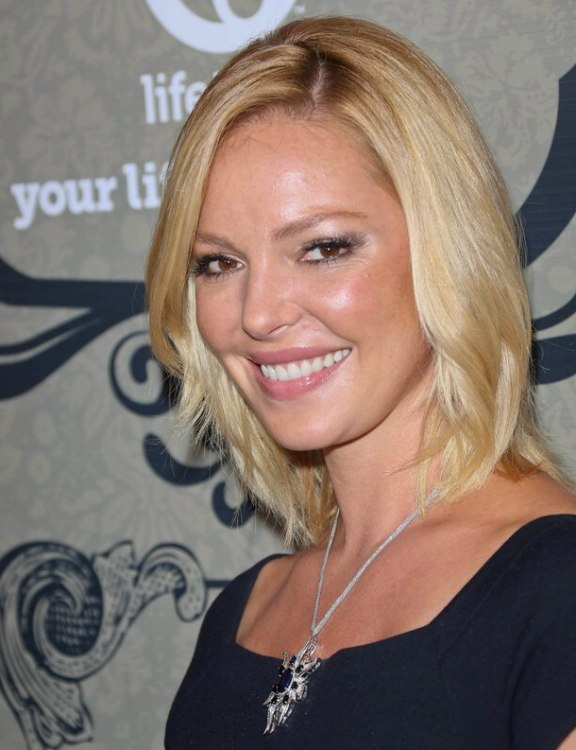 Katherine Heigl Medium Hairstyle together with Eve Hewson also Cute St Birthday Hairstyles For Everyone furthermore Blonde Hairstyles Red Highlights as well Tousled Curly Hairstyle For Women Over From Maria Bello. on hair medium length layered hairstyles for women