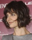 Katie Holmes with a curly bob