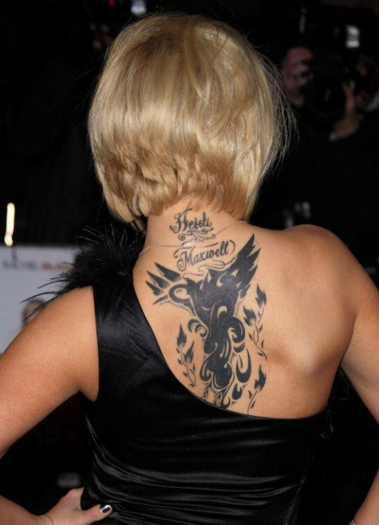 Kerry Katona S Tattoo And Her Below The Chin Bob With A