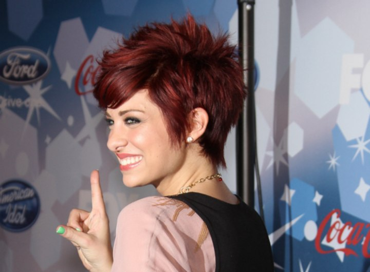 Lacey Brown S Short Hair With Choppy And Slithered Ends