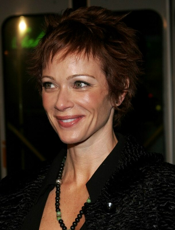 Lauren Holly | Wash and wear pixie haircut for busy women