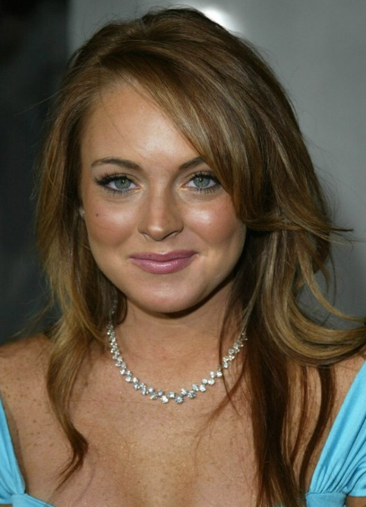 Linday Lohan Dark Golden Blonde Hair With Brown Stripes
