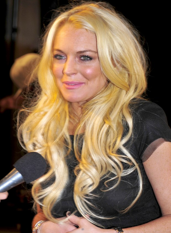 Lindsay Lohan's long curls