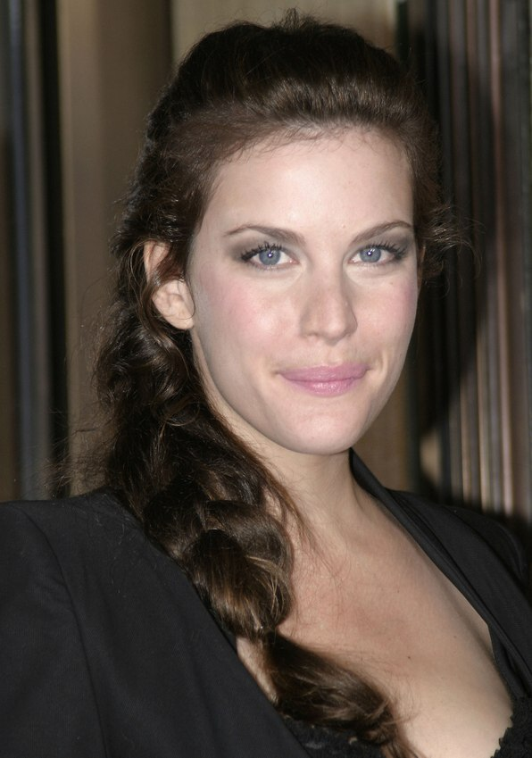 Liv Tyler Wearing Her Hair In A Long French Braid