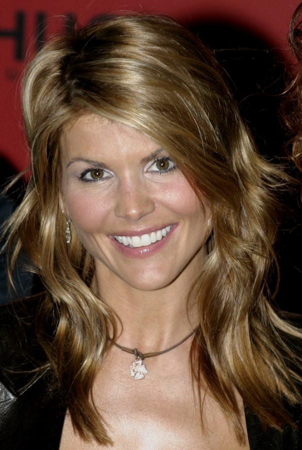 Lori Loughlin Long Hairstyle With Layers Cut Thoughout