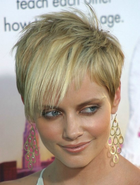 Pixie Style And Devil Lock Short Hair Combination For Marley Shelton Short Hairstyle 2013