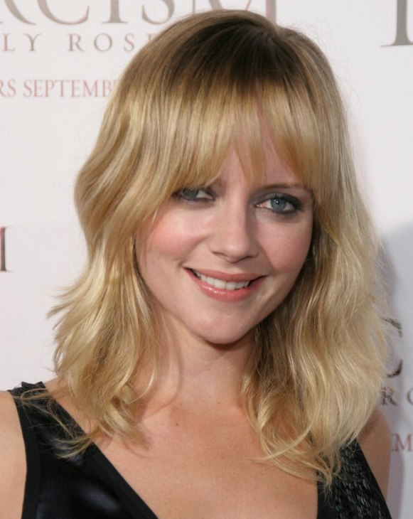 Long Shoulder Length Shag Hairstyle Sported By Marley Shelton