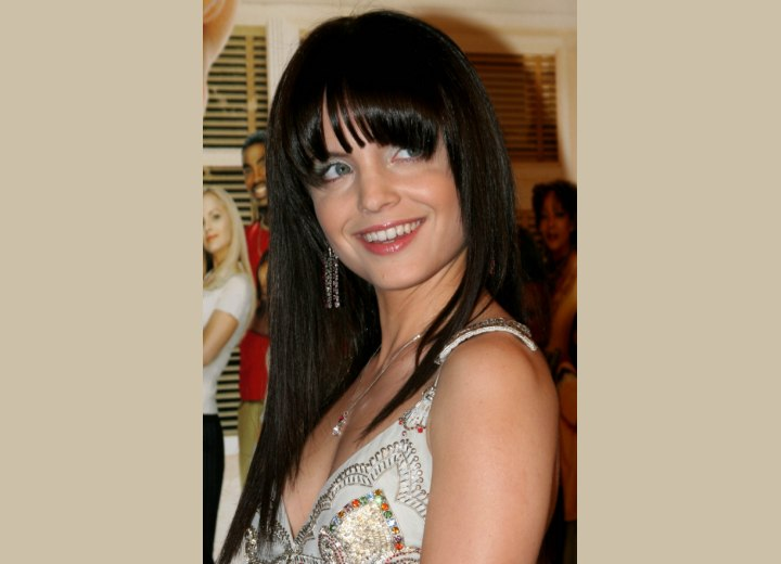 long black hair fringe